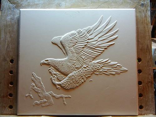 Mercanti's Australian eagle design