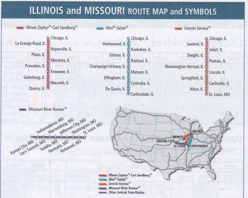 Amtrak 2012 Illinois Service Map