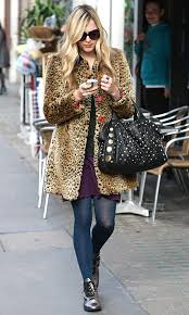 Fearne Cotton Leopard Print Coat Celebrity Style Women's Fashion