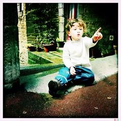 Samuel phone home #france #normandie #kid