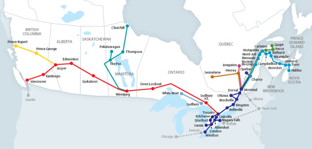 via rail routes
