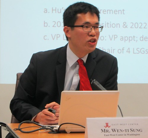 2013 Asia Studies Visiting Fellow, Wen-ti Sung, from Australian National University, discussed his analysis of the policy outcomes of China's Third Plenum and their implications for Sino-US-Taiwanese relations in his seminar at the East-West Center in Washington.