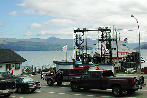 Skidegate Landing Ferry Terminal, Skidegate, Graham Island, Haida Gwaii (Queen Charlotte Islands), British Columbia, Canada