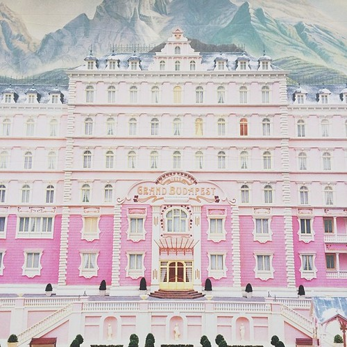simply humongous poster for the grand budapest hotel. i can't wait!!!