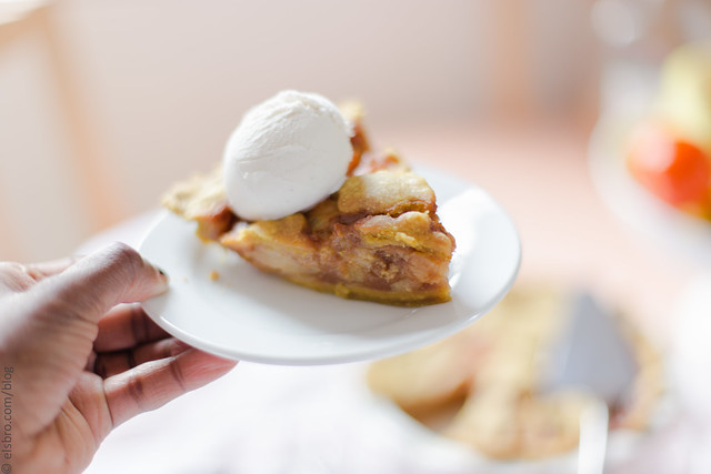 Salted Caramel Pear Pie