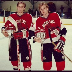 #tbt Playing High School Hockey in Wausau, WI 1988-ish