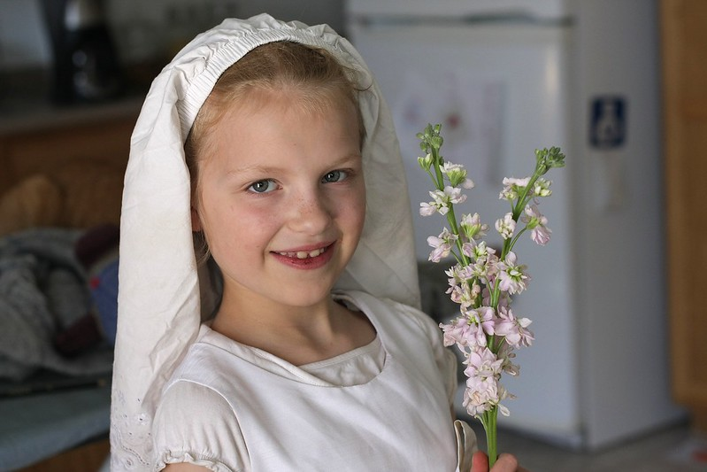 "K as a ""flower girl"""