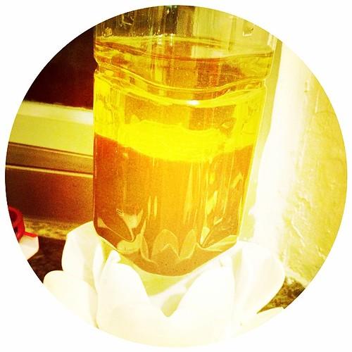 今日最後一餐準備好!久違的油加果汁!