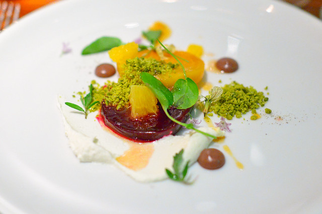 Heirloom Beet cypress grove goat cheese, black olive vinaigrette