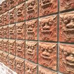 wall with faces Ishigaki Island, Japan 17/4/2017