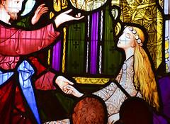 The Miracles of Christ: the raising of Jairus's daughter (detail, Robert Bayne, 1865)