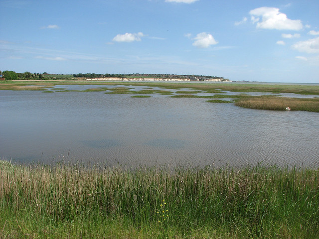 The River Stour estuary near Pegwell Bay