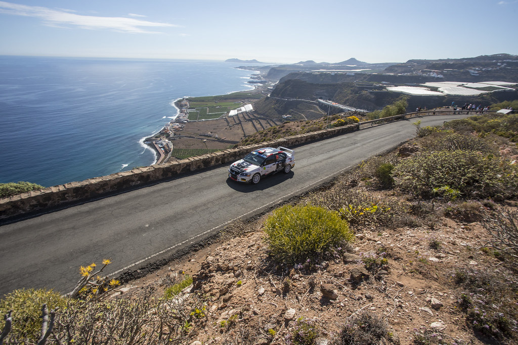 26 BANNOUT Gilbert (LBN), MAROUN Rony (LBN), Mitsubishi lancer evo X, Action during the 2017 European Rally Championship ERC Rally Islas Canarias, El Corte Inglés,  from May 4 to 6, at Las Palmas, Spain - Photo Gregory Lenormand / DPPI