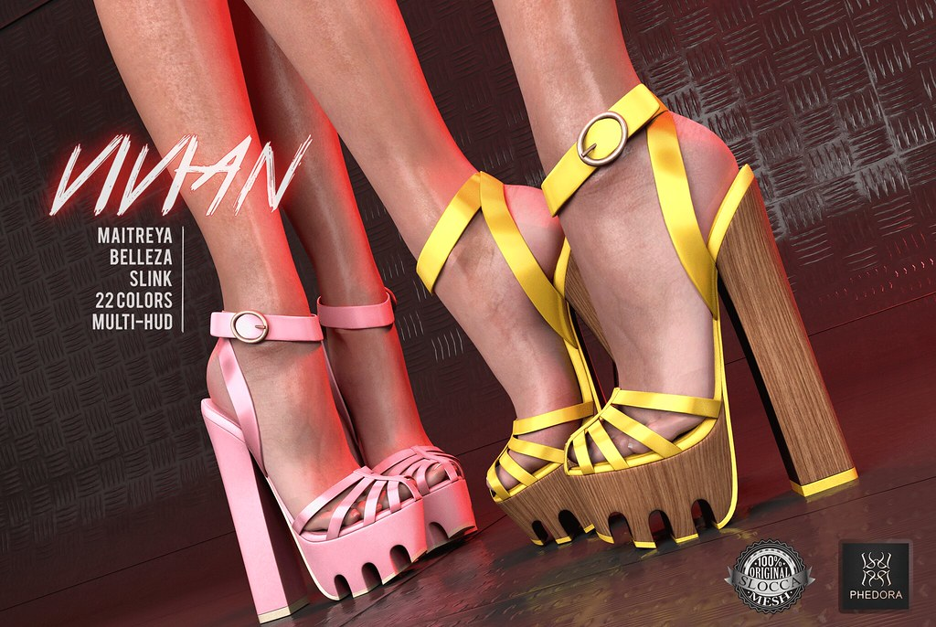 "Phedora for Fameshed Bday Round- ""Vivian"" heels + mystery gift!! - SecondLifeHub.com"