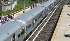 Blue striped LIRR M-3 pair
