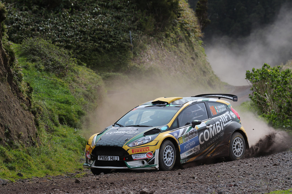 10 MOFFETT Josh FULTON James  Ford Fiesta R5 Action during the 2017 European Rally Championship ERC Azores rally,  from March 30  to April 1, at Ponta Delgada Portugal - Photo Gregory Lenormand / DPPI