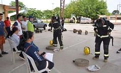 Bomberos chonenses realizan evaluaciones tácticas y técnicas