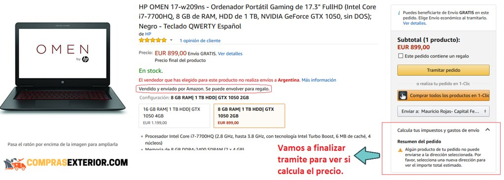 notebok con bug de impuestos en amazon