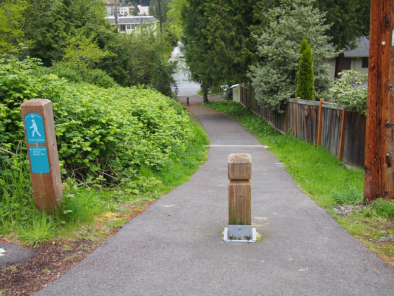 Bellevue Trail Segment: This trail connects two parts of 102nd Avenue SE.