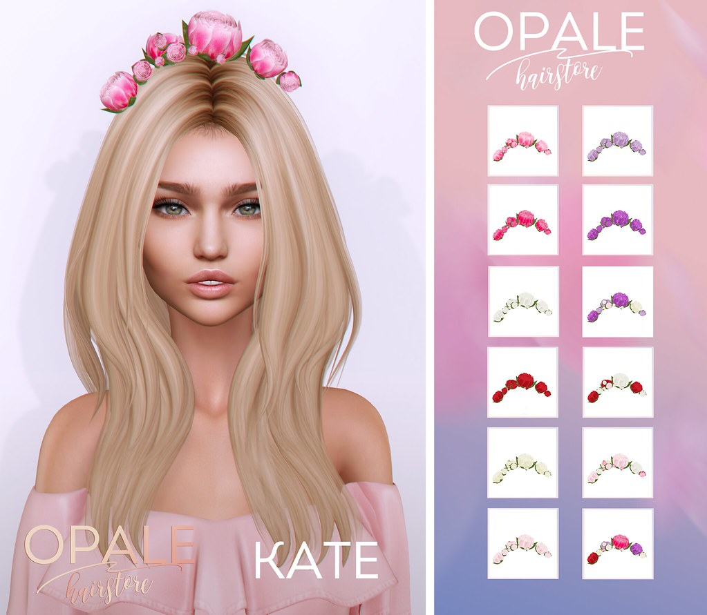 Opale Hair . Kate @ Bloom April 2017 - SecondLifeHub.com