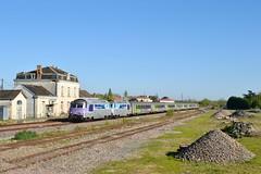 SNCF BB 67443 + BB 67578 + Intercités 3831 te Velluire