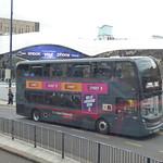 St Martin`s Queensway - Birmingham New Street Station - NXWM Platinum bus on the X61