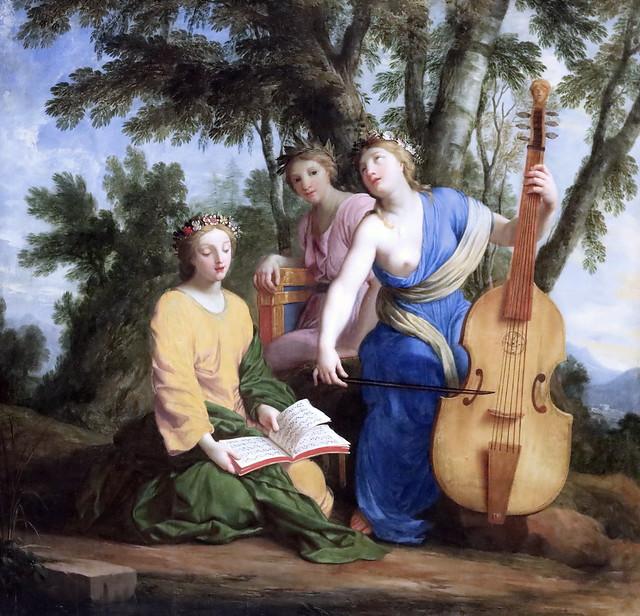 IMG_6467DBA Eustache Lesueur. 1616-1655. Paris.   Les muses, Melpomène (poésie tragique, tragédie), Eratos (Poésie lyrique et chorale) et Polymnie (Rhétorique).The Muses, Melpomene (Tragic Poetry, Tragedy), Eratos (Lyric and Choral Poetry) and Polymnia (R