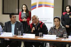 04/24/2017 - 13:19 - Quito, 24 de abril de 2017 (Andes).- Rocío González esposa del presidente electo Lenín Moeno, participó en una reunión con representantes de Nicaragua y El Salvador  para tratar sobre programas para discapacitados. ANDES/Micaela Ayala V.