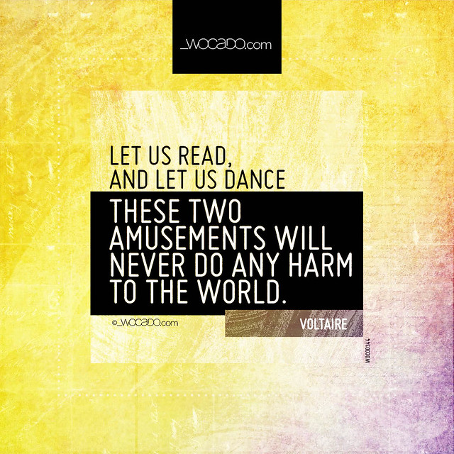 Let us read, and let us dance by WOCADO.com