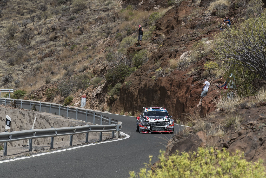 19 GRZYB Grzegorz (POL), ZAWADA  Przemyslaw (POL), Skoda Fabia R5, Action during the 2017 European Rally Championship ERC Rally Islas Canarias, El Corte Inglés,  from May 4 to 6, at Las Palmas, Spain - Photo Gregory Lenormand / DPPI