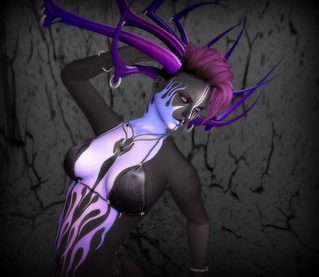 .:Soul:. - Aleh Horns & FF RFL Hunt GIft Tattoo & DSC Eyes Nebula - Front