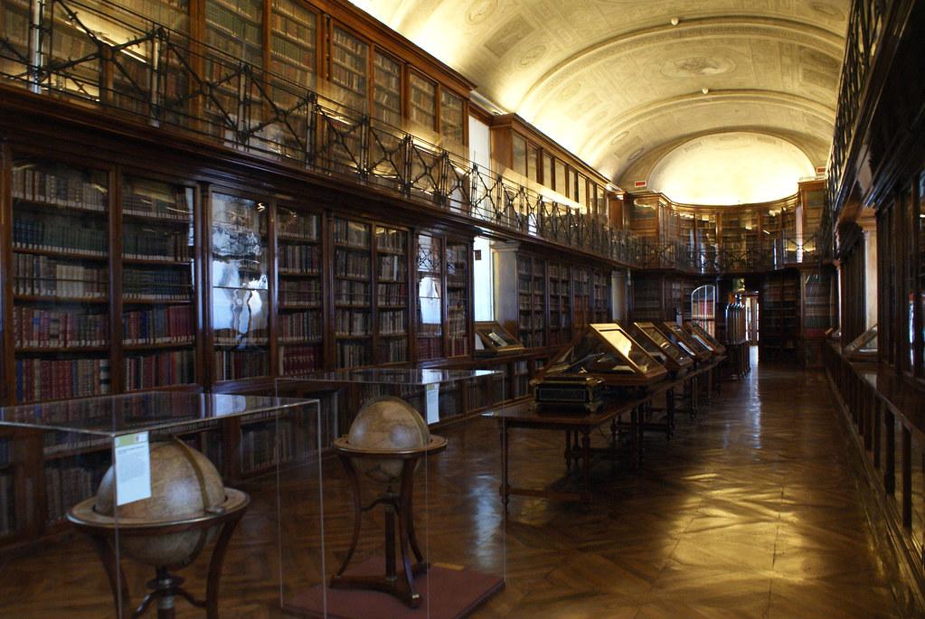 Salle principale de la Bibliothèque Royale de Turin.