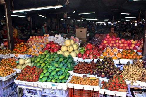 The local market, full of interesting fruit