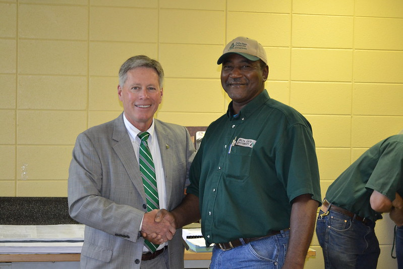 President LaForge and May Employee of the Month, Michael Kemp