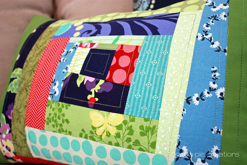 Wonky Pillow quilting