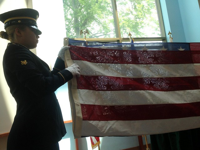 military funeral flag folding instructions