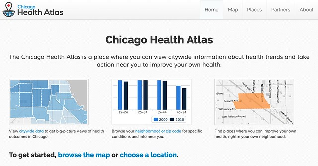 The Chicago Health Atlas is a place where you can view citywide information about health trends and take action near you to improve your own health.