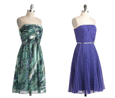 Strapless Dresses from ModCloth
