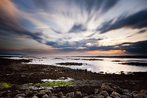 longexposure ireland sunset summer galway water clouds landscape evening bay day cloudy lowtide partlycloudy galwaybay countygalway muttonisland muttonislandcauseway