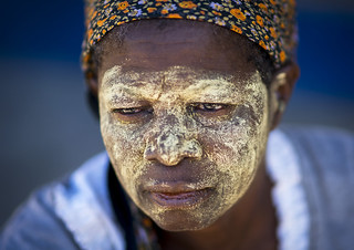 Woman With Muciro Face Mask, Island Of Mozambique, Mozambique