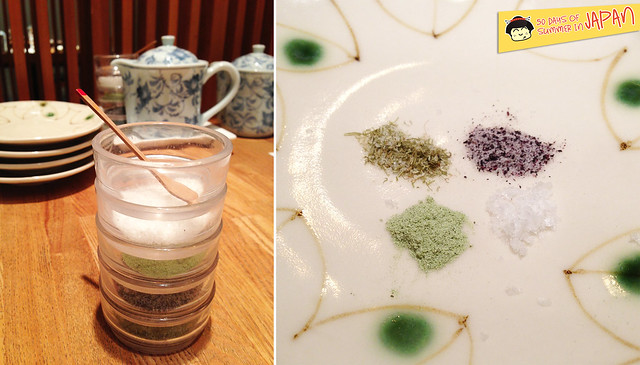 Tempura Tsunahachi - Shinjuku - Takashimaya - specialty salt