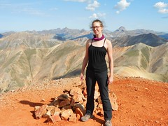 Erin All Fired Up on Redcloud Peak (14,034 ft)