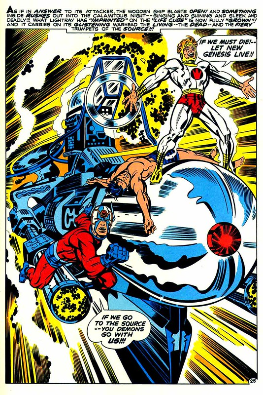 New Gods 6 Glory Boat climax by Jack Kirby