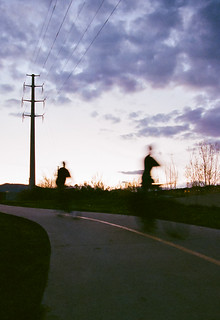cycling, dusk | Canon Elan 7ne | 35mm film + EF 24-105mm L IS 4.0 lens