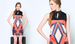 Optic Sleeveless Dress with Mandarin Collar, Php 1395