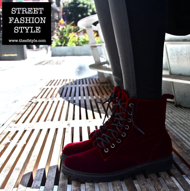 burgundy velvet boots, san francisco fashion blog, street fashion style,