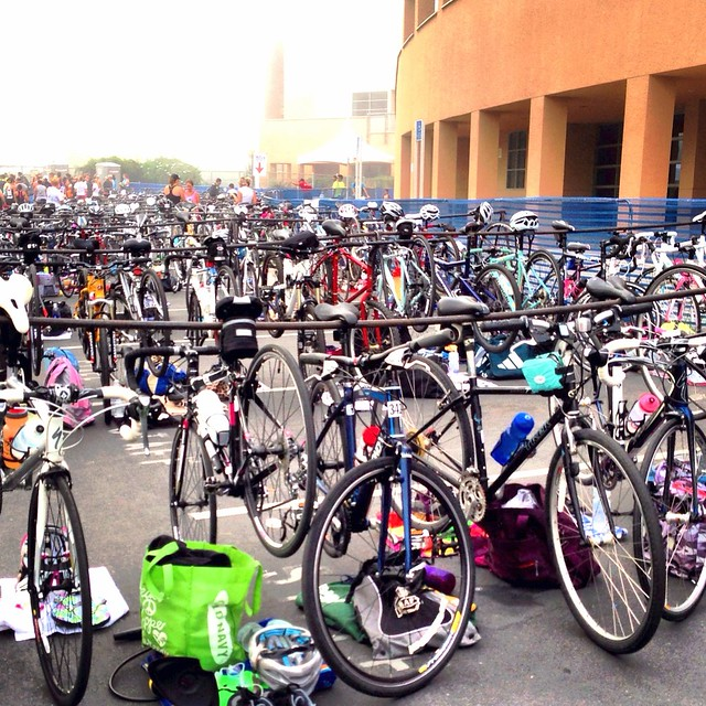 Bike Transition at the 2013 iTRYathlon