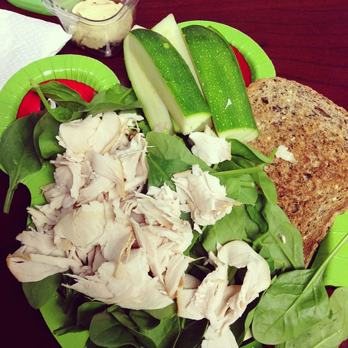turkey salad and hummus
