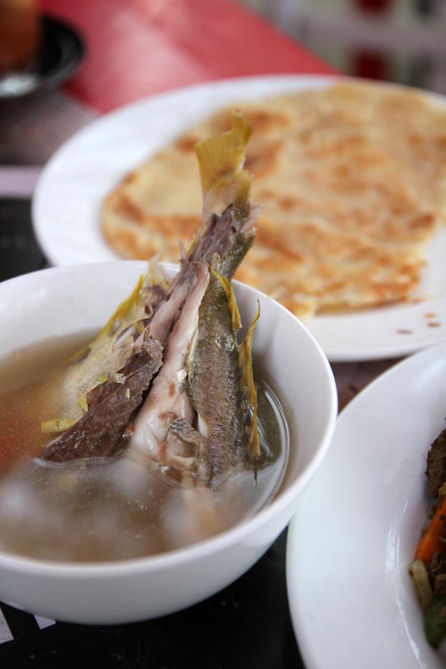 Fish tail soup