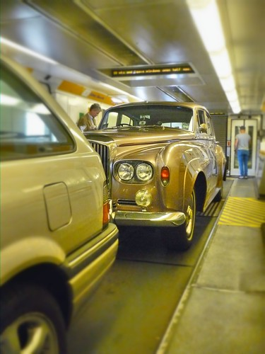 Bentley S3 on the tunnel train